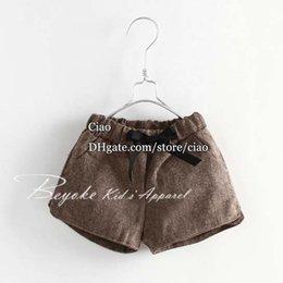 Wholesale Girls Shorts Kids Pants Autumn Winter Black Shorts Khaki Pants Korean Children Shorts Girl Dress Kids Shorts Children Clothes Kids Clothing