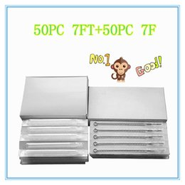 Wholesale 7FT F white long Disposable Tattoo tips Disposable Sterile Tattoo Needle tattoo needle product