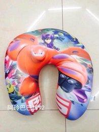Wholesale Big Hero Baymax Kids Foam Particles Pillows U shape Pillows Throw Pillow Children Neck Pillow Gift For Kids B489