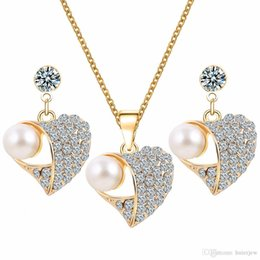 Crystal Bridal Jewelry Set 925 Silver Plated Necklace Imitation ...