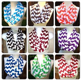 Wholesale 16 Colors New Fashion Children Chevron Wave Scarf Loop Kids Infinity Scarves Baby Accessories