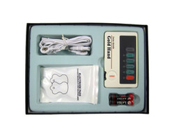 Wholesale XFT Low Frequency Therapeutic TENS Massage Electrical Stimulator Therapy Massager With Conductive Gloves electrode Pads