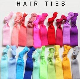 Velvet Rope geknotete Haar-Riegel-Süßigkeit-Farben-Pferdeschwanz-Halter Yoga Band Elastische Bänder europäischen und amerikanischen Glitter Haarschmuck -J305