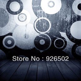 2017 Floor Cloth Patterns Thin Fabric Cloth Printed Photography Background  Circle Pattern On Wall With Wooden