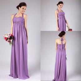 Purple Empire Waist Bridesmaid Dresses Online   Purple Chiffon ...