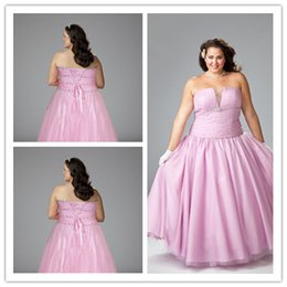 Wholesale Sexy Strapless Pink Beads sequin plus size special occasion Dress Handmade high quality back with Lace up Chiffon Ball gown Dress Beads