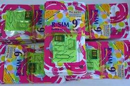 RSIM 9 PRO супер совершенный R SIM 9 Разблокировать все iPhone 5S 5C 5G 4S Официальный IOS 7 7.1T-mobible Docomo Sprint Verizon GPP GSM CDMA DHL бесплатно