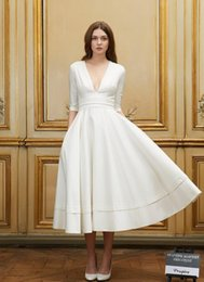 Discount Designer Simple Tea Length Dresses - 2017 Designer Simple ...