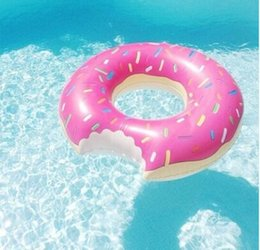Wholesale 50pcs Huge Donut Shaped Swim Ring inflatable donut pool float adult pool floats