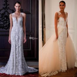 Monique Lhuillier Wedding Dress Detachable Skirt 120