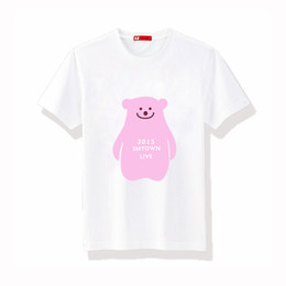 Discount live t shirts cyj 2015 SMtown live concert t-shirts SHINee SUJU EXO Girls Generation fx red velvet pink bear t-shirts
