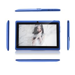 Navire DHL! Écran iRulu 7 pouces Tablet PC 8GB Allwinner A23 Dualcore Q88 double caméra Wifi capacitifs A23 Comprimés Non Adaptateur