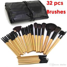 Wholesale Promoción El precio bajo PC cosmética para el maquillaje facial maquillaje del kit del cepillo Herramientas del artículo de tocador del kit Negro bolsa bolsa A5