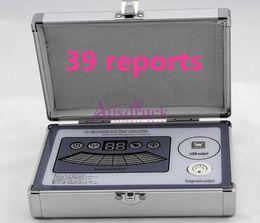Pro Quantum Ressonância Magnética Analyzer 39 relatórios Espanhol Francês Alemão de alta qualidade Inglês múltipla analisador de saúde versão scanner corporal