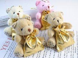 Wholesale New Plush Teddy Bear Candy Box Wedding Gift LV Western European Aristocracy Bear Candy Bag