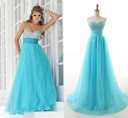 Wholesale Cheap Evening Dresses Tulle Green Sweetheart Long Party Formal Pageant Prom Ball Gown Special Occasion Dresses Stock