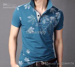 Wholesale 2015 MenT shirt Short Sleeve Summer Fashion Casual Polos Lapel Cotton T shirt M L XL XXL XXXL JM