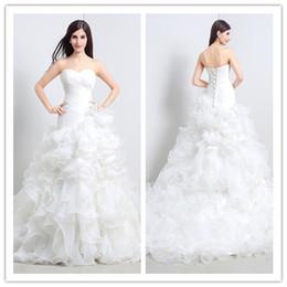 Largo 2015 vestidos de boda con gradas del organza barato Medias Vestidos de novia palabra de longitud con Encanto ata para arriba el vestido de novia SX032