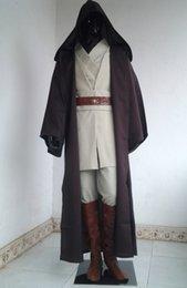 Wholesale 2015 Hot Sale Star Wars Cosplay Cool New Star Wars Obi Wan Cloak Suits Kenobi Jedi Knight Halloween Cos Dress Up Set SKY074