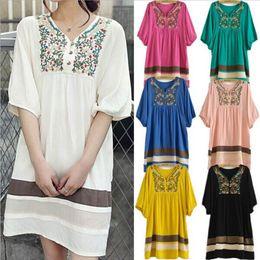 Wholesale 2014 Summer Embroidery Maternity Dresses Vestidos Casual Cotton Dress Clothes For Pregnant Women roupas femininas