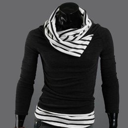 Wholesale 2015 New Brand Men s Sweaters Plaid And Striped Turtleneck Patchwork Pullovers Men Clothing Plus Size M XXXL