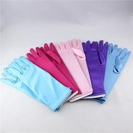 Wholesale Children s fashion decorative brocade cloth gloves Frozen glove Children colors