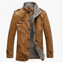 Mens Suede Shearling Coat