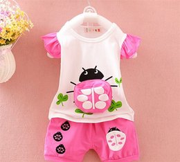 Wholesale Sweet Girls Clothing Online Childrens Animal Pattern cotton Outfits Quality Assurance Cheap Kids Clothing KD0536