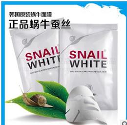 Wholesale HOT Snail White Face mask Snail Secretion Filtrate Moisturek Carrian Filtrate Secretion Skin Care Acne Facial Moisture Mask