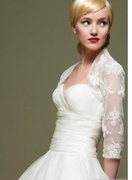 Wholesale Custom Made Plus Size Lace Bridal Boleros Length Sleeves Wedding Jackets for Wedding Accessories