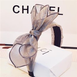 Wholesale 2015 New hair accessories lace headband girls hair accessories big bowknot for women