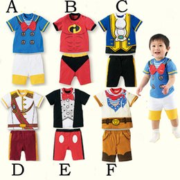 Wholesale 2 Set Summer Girls Boys Outfits Short Suit Cartoon Boys Clothing Sets Children Suit Size for Sets B
