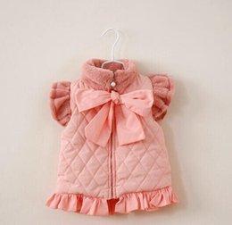 Wholesale Children Waistcoat Girl Fashion Bowknot Lace Thicken Waistcoat