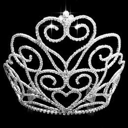 Wholesale 2015 Luxurious Junoesque Sparkle Pageant Crowns diamond Wedding Bridal Crowns Bridal Jewelry Tiaras Hair Accessories shiny bridal tiaras