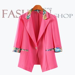 Wholesale 2014 new women blazers and jackets Sleeve of mixed colors candy colors ladies blazer