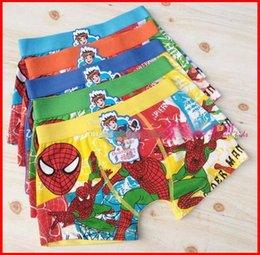 Wholesale 2015 Boys Spiderman Underwear Underpants Children Boxers Kids Boxers Boy Boxer Briefs Kids Underwear Children Clothes Kids Clothing Boxers
