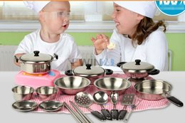 online shopping Hot Selling Set Of Let s Play House Kitchen Pots Pans Set Toys For Baby Infant Kids