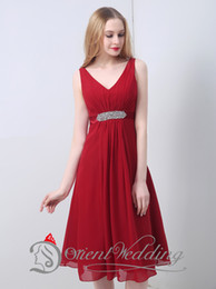 Wholesale In Stock Mother Of The Bride Dress Retail Hour Shipping Sleeveless Line Real Photo V Neck Chiffon