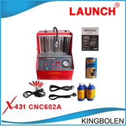 2017 panel chevrolet Genuine 2017 Launch CNC-602A CNC602A injector cleaner & tester With English Panel DHL FEDEX Free shipping
