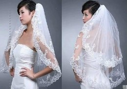 Wholesale New Elegant Layer White Beads Wedding Bridal Lace Veil With Comb Wedding Accessories Wedding Veil MK02