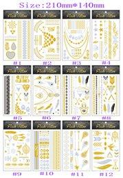 Wholesale body art gold temporary tattoos gold tattoo jewelry flash tatoo stickers