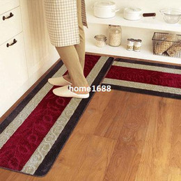 45*120cm washable kitchen rugs Striped waterproof non-slip kitchen mats and  rugs Free Shipping