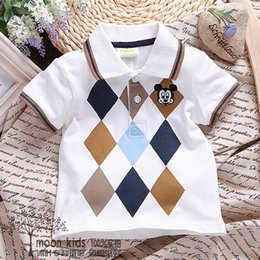 Wholesale summer female child short sleeve t shirt cotton short sleeve cartoon baby boys polo shirt clothes