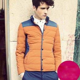 Wholesale Winter High quality Down Coats for Men Winter thick Coats Warm Plus sizes Long sleeve Men s Down Coat Jacket White Duck Down Dark Blue