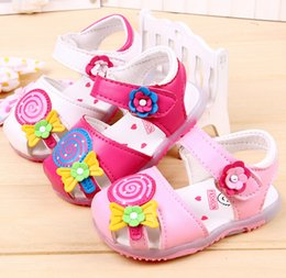 Wholesale New summer baby girls sandals Cartoon lollipop baby shoes baby soft bottom toddler shoes sandals