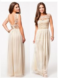 Wholesale new Fashion Europe Maxi Party Dress Put on a Large Hollow Lace Backless Plus Large size Women s party dresses