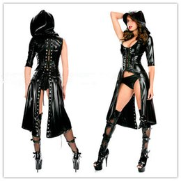 Wholesale Sexy Faux Leather Costume Sex Slave Bondage Restraint Clothes Fetish Harness Roleplay Dress For Women Adult Games Apparel Erotic Flirt Wear
