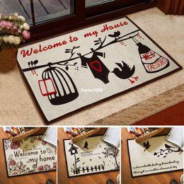 Beautiful 2015 Direct Selling Door Kitchen Rugs Bathroom Creative Carpet  Slip Resistant Pad Cotton 40cmx60cm Mats Doormat Free Shipping