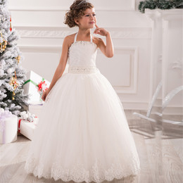 Discount Little Girl Crystal Pleated Wedding Dress | 2017 Little ...