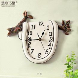 Country Kitchen Clock Personality Clocks Past Artistic Resin Wall